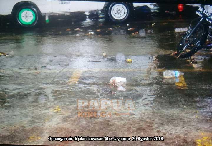 Tiap Hujan Deras Banjir, Warga Abe Jayapura Harap Ada Parit