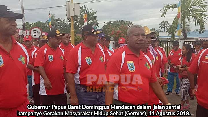 Gubernur Mandacan Ajak Hidup Sehat