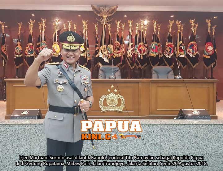 Irjen Pol Martuani Sormin Resmi Jadi Kapolda Papua
