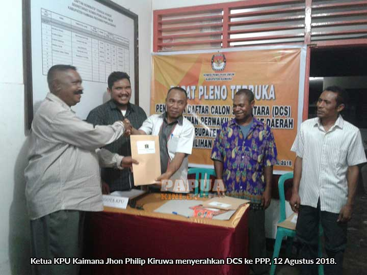 DCS Kaimana 283 Calon, PKS dan PKPI Tidak Penuhi Kuota