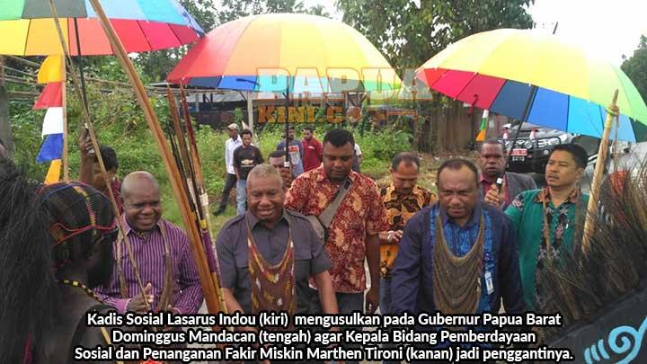 Lasarus Indou Usul ke Gubernur Marthen Tironi Jadi Kadis Sosial Papua Barat