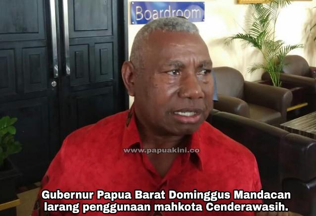 Gubernur Papua Barat dan Bupati Manokwari Larang Penggunaan Mahkota Cenderawasih