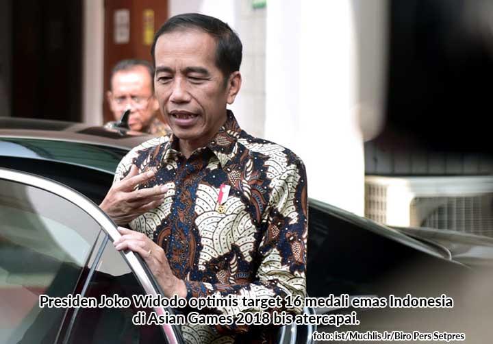 Presiden Jokowi Optimis Target Medali Emas Asian Games 2018 Tercapai