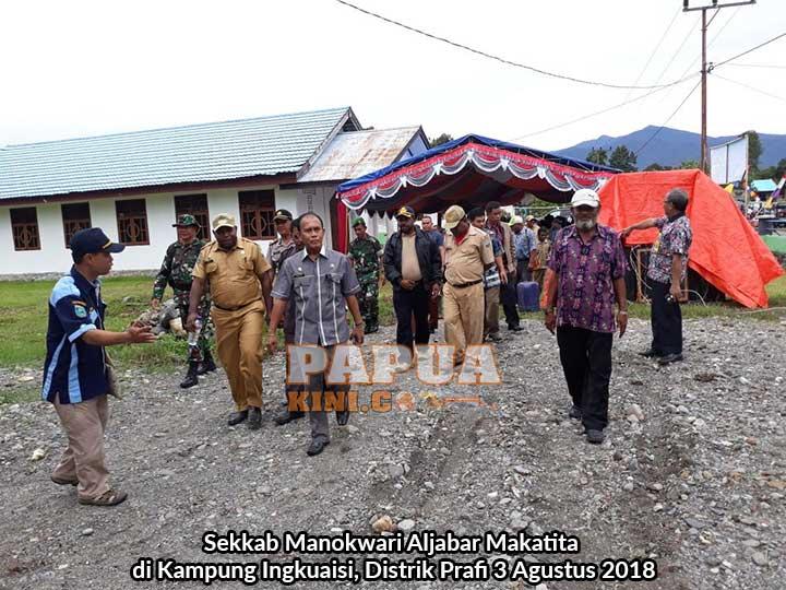 Sekkab Manokwari di Kampung Ingkuaisi, Distrik Prafi 3 Agustus 2018