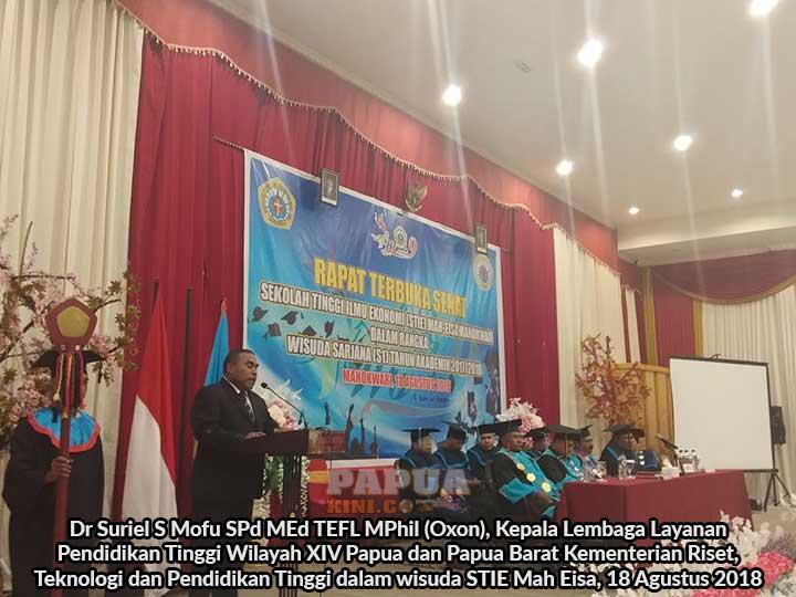 Alumni STIE Mah Eisa Manokwari Harus Bisa Gairahkan Perekonomian