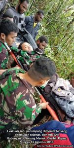 Pesawat Dimonim Air Ternyata Jatuh di Guung Menuk