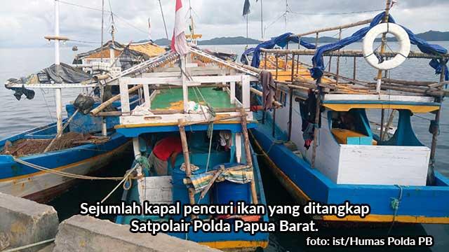 12 Nahkoda Kapal Pencuri Telur Ikan Terbang Jadi Tersangka