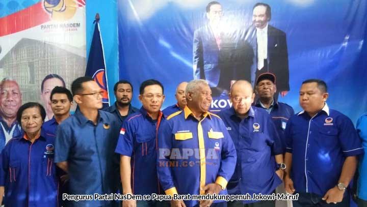 DPD Nasdem se Papua Barat Dukung Jokowi-Ma'ruf