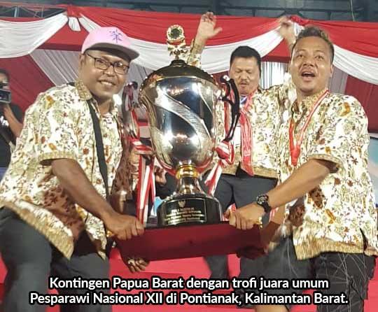 Papua Barat Juara Umum Pesparawi Nasional XII