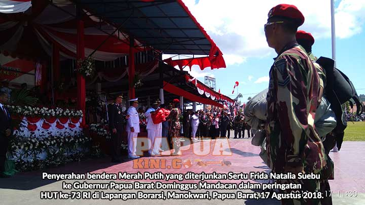 PoCil dan Penerjun Payung Jadi 'Bintang' HUT ke-73 RI di Papua Barat
