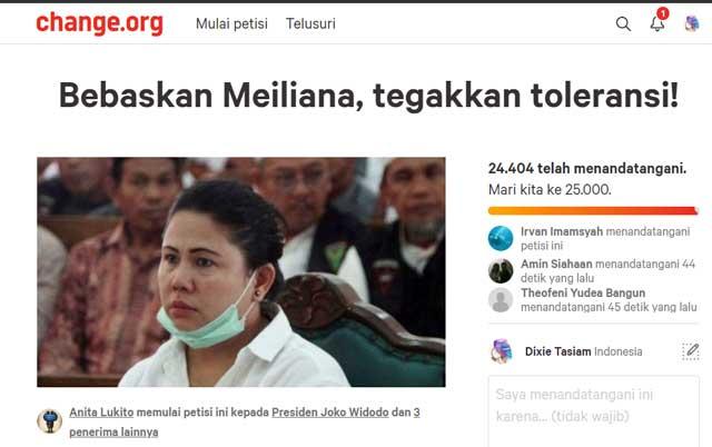 Ayo Teken Petisi Online Bebaskan Meiliana, Tegakkan Toleransi!
