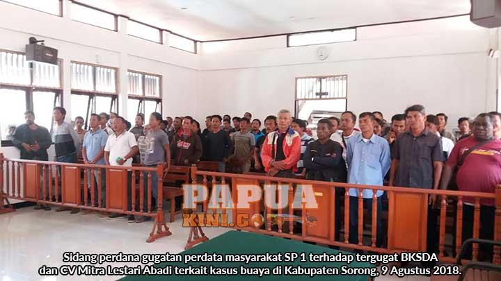 Sidang Kasus Buaya Sorong Ditunda