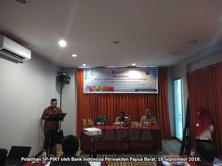 BI Latih UMKM Manokwari Raih Sertifikasi Produksi Pangan Industri Rumah Tangga