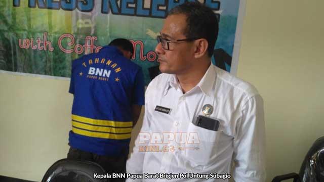 Kepala BNN Papua Barat Brigjen Pol Untung Subagio