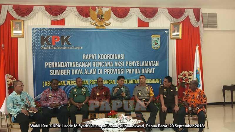 KPK: SDA Papua Barat Rentan Dikorupsi