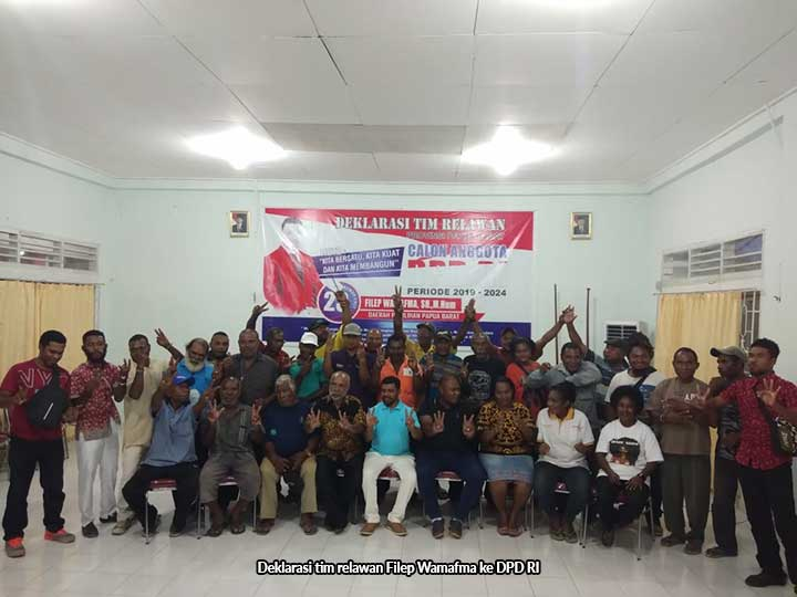 Filep Wamafma Deklarasi Tim Relawan