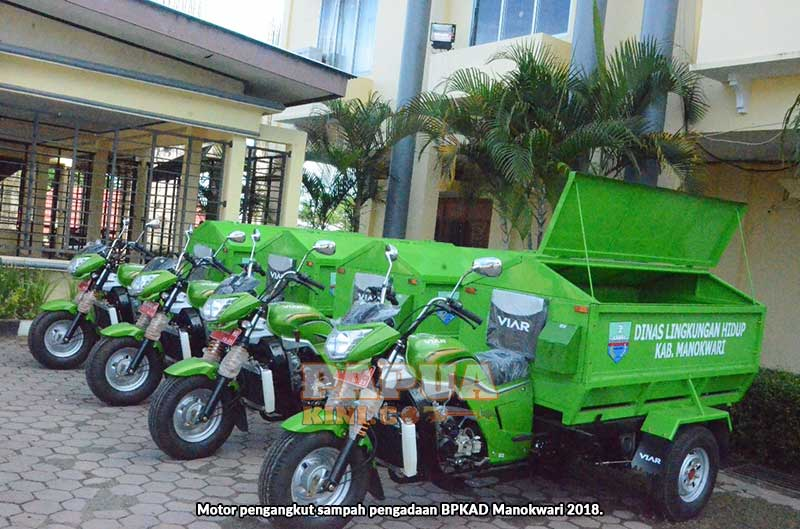 DLH Manokwari Dapat Bantuan 4 Motor Pengangkut Sampah