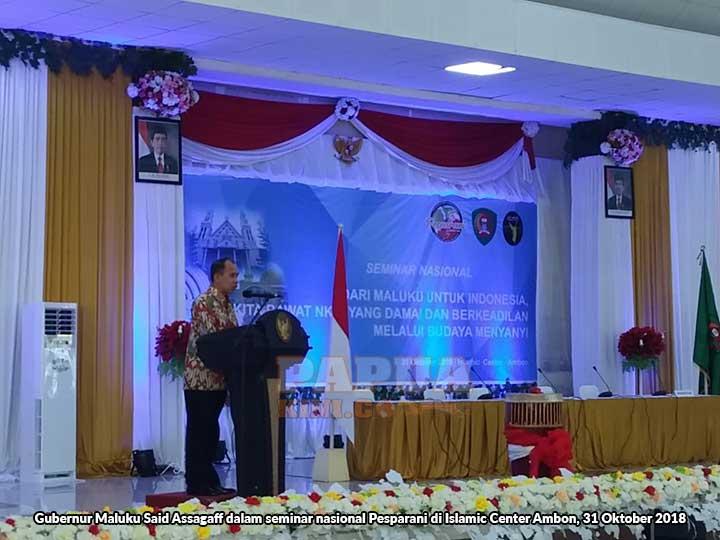 Indahnya Perbedaan, Seminar Nasional Pesparani di Islamic Center Ambon