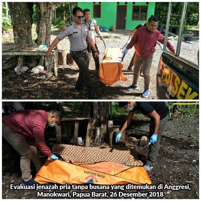 Mayat Pria Tanpa Busana Ditemukan di Anggresi