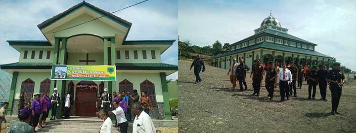 Gubernur Resmikan Gereja dan Masjid Makodam XVIII/Kasuari