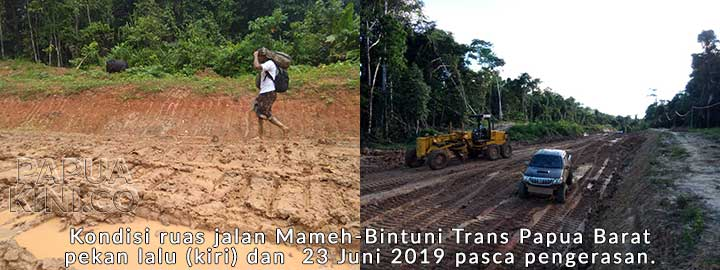 Kolam Bebek Jalur Trans Papua Barat Mulai Mulus
