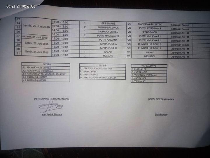 Ini Jadwal Lengkap Turnamen Sepakbola Gubernur Papua Barat Cup