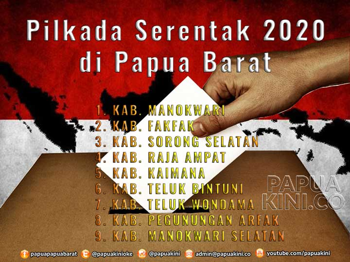 9 Kabupaten Papua Barat dan 11 Papua Ikut Pilkada Serentak 2020