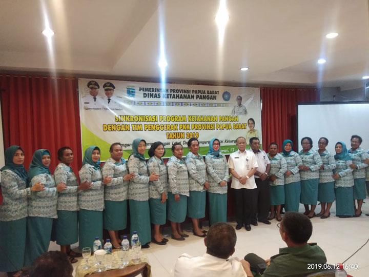 Dinas Ketahanan Pangan dan PKK Papua Barat Sinkronisasi Program dan Pemanfaatan Pekarangan