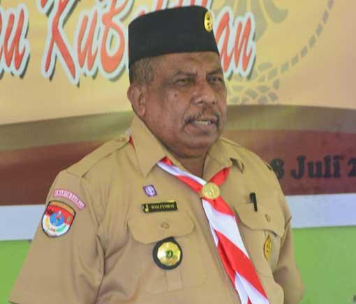 Wim Fimbay Terpilih Ketua Pramuka Teluk Bintuni
