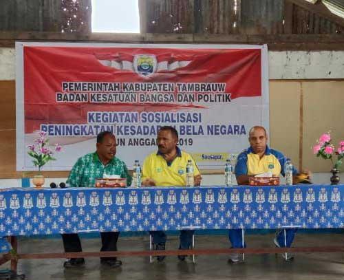 Bupati Tambrauw Ingatkan Pentingnya Bela Negara