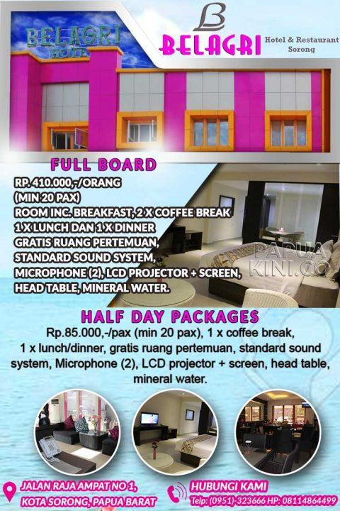 Belagr Sorong Hotel iklan