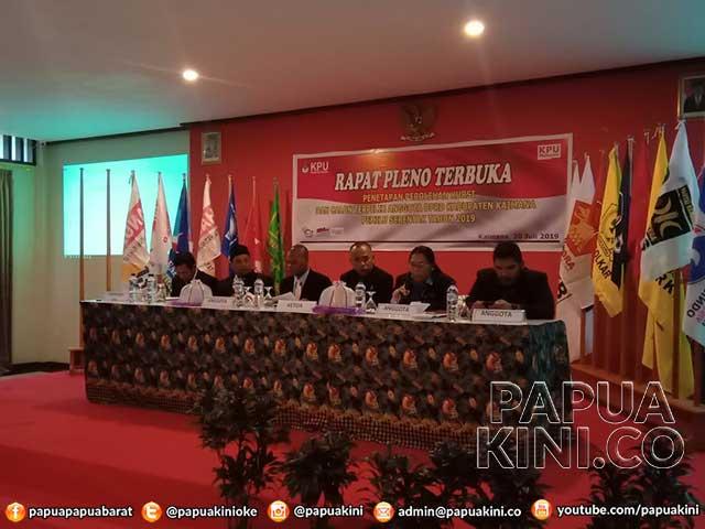 Tak Ada Parpol Keberatan Penetapan Anggota DPRD Terpilih Kaimana