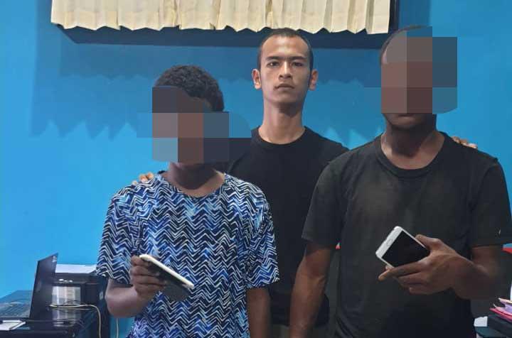 Dua Terduga Pencuri HP Dibekuk Polres Kaimana