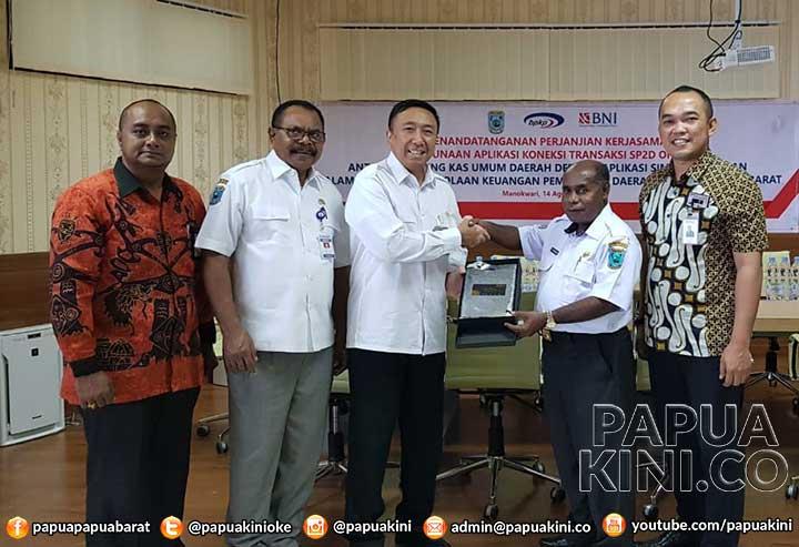 BNI dan Pemprov Papua Barat Teken Kerjasama SP2D Online