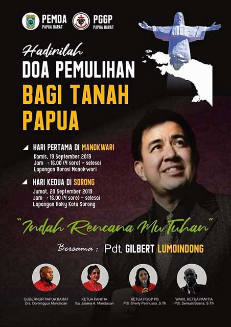 PGGP Papua Barat Gelar KKR Doa Pemulihan Bagi Tanah Papua
