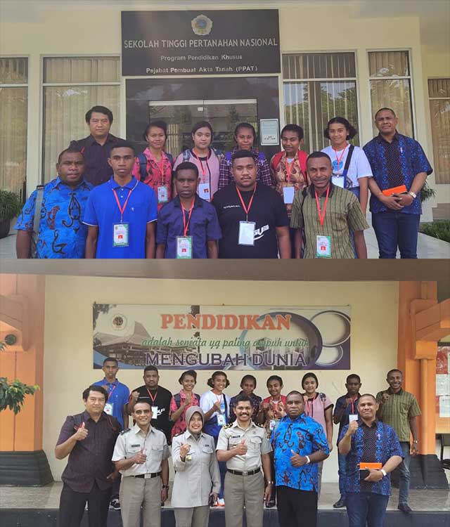First Lady Papua Barat Dampingi Calon Mahasiswa Baru STPN Yogyakarta