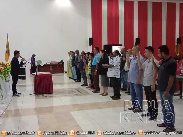 Gladi Resik Pelantikan DPRD Kaimana 2019-2024, Anggota Lama Tak Hadir