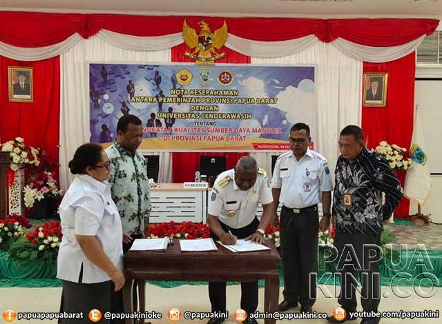 Gubernur Papua Barat Kuliah S2
