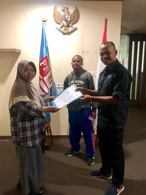 Upayakan Atlet Lolos PON, PRSI Papua Barat Sambangi Pengurus Besar