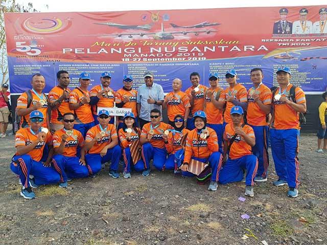 Terjun Payung Papua Barat Raih 6 Juara Pra PON