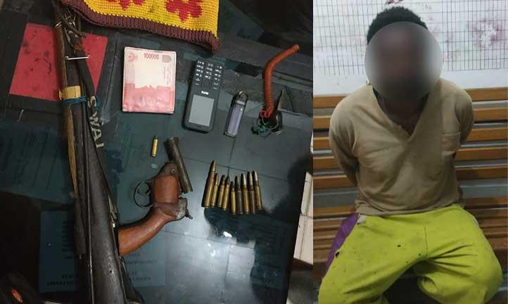 Polisi Ciduk Pemilik 2 Senjata Api dan 10 Butir Amunisi