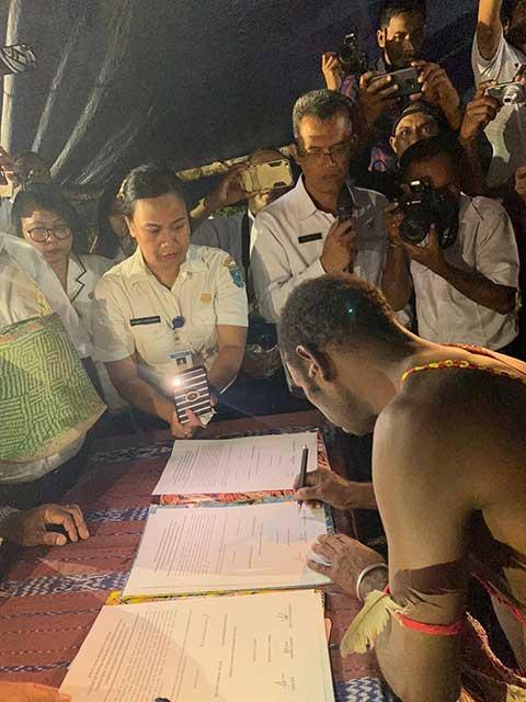 Pemprov Papua Barat dan Tiga Marga Klamono Sepakat Bagi Hasil Migas Pertamina