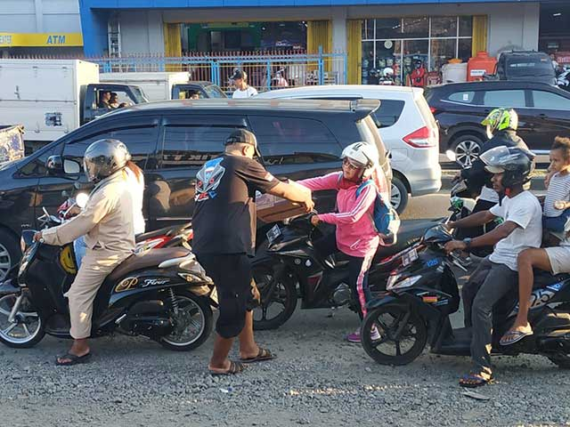 Komunitas Motor Manokwari Galang Dana Bencana Maluku