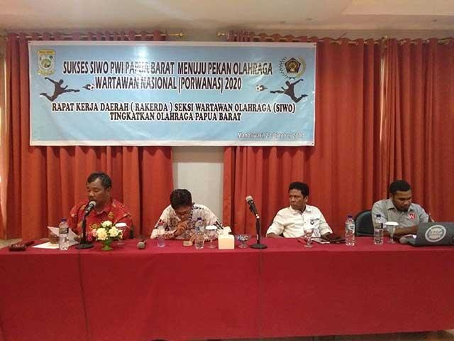 SIWO PWI Papua Barat Bahas Penetapan Cabor Porwanas