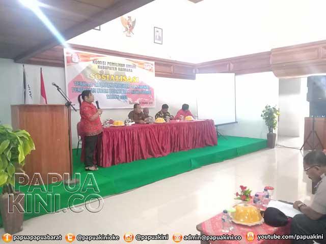 KPU Kaimana Sosialisasi PKPU 15 Tahun 2019
