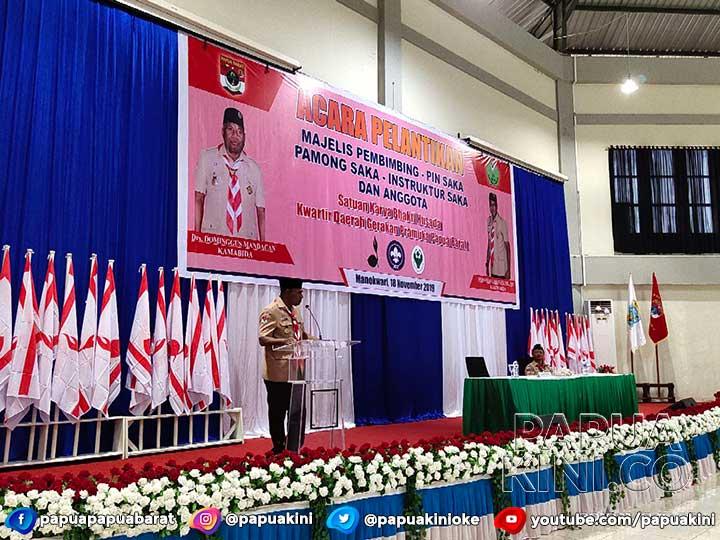 Ketua Pramuka Papua Barat Ingatkan Penghujung Sambutan Gubernur
