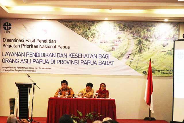 Gubernur Papua Barat ke LIPI: Bantuan Kesehatan dan Pendidikan Tak Bisa Ditunda