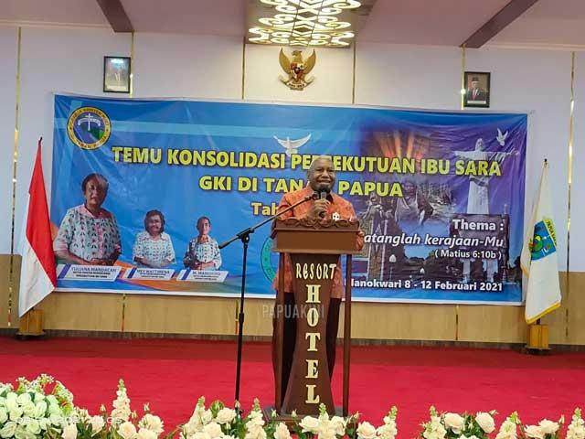 Buka Temu Ibu Sara se Tanah Papua, Gubernur Papua Barat Tegaskan Komitmen Dana Otsus