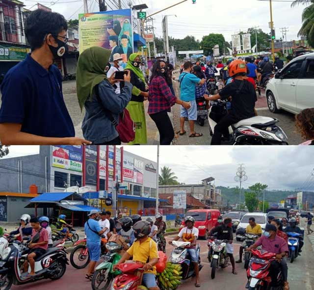 Sambut Hari Pers PWI Papua Barat Bagi 1000 Masker