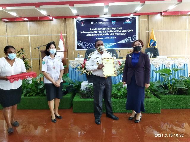 Manokwari Kabupaten Pertama di Papua Barat Bentuk TP2DD